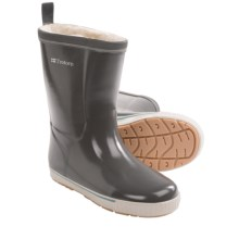 Tretorn Skerry Vinter Shiny Rubber Boots - Waterproof, Faux-Fur Lined (For Women) in Charcoal Grey - Closeouts