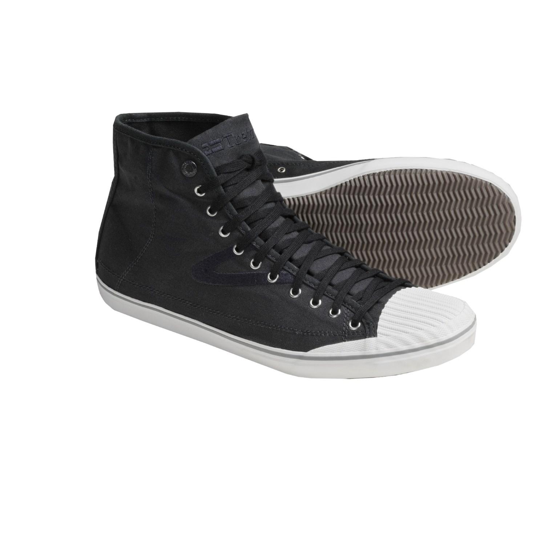 Tretorn Skymra Mid SL Canvas Shoes (For Men) in Phantom Black