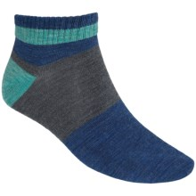Tretorn Wool Socks - Quarter-Crew (For Men) in Charcoal/Navy - Closeouts