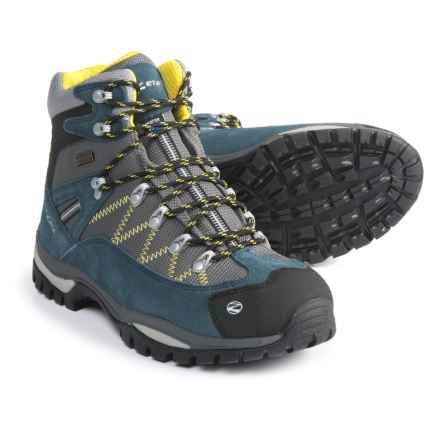 Trezeta Adventure Hiking Boots - Waterproof (For Men) in Blue/Yellow - Closeouts