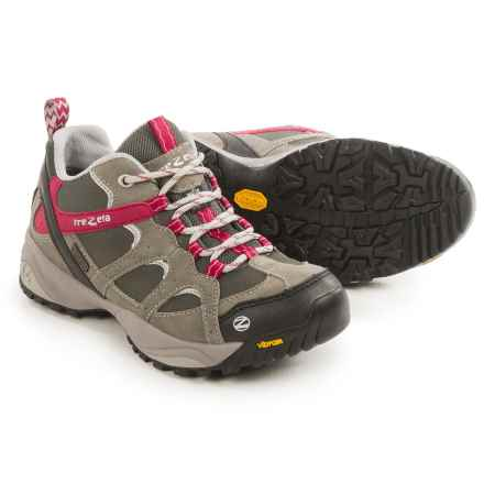 Trezeta Amelie EVO Low Trail Shoes - Waterproof (For Women) in Tundra/Magenta - Closeouts