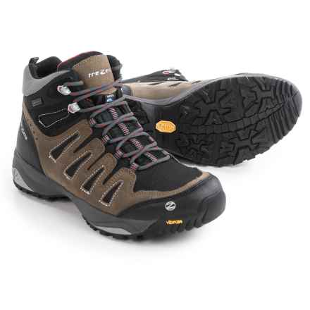Trezeta Chinook Mid Hiking Boots - Waterproof (For Men) in Caribou/Red - Closeouts