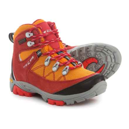 Trezeta Cyclone Hiking Boots - Waterproof (For Little Boys) in Red/Orange - Closeouts