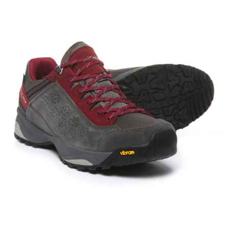 Trezeta Indigo Hiking Shoes - Waterproof (For Men) in Anthracite/Deep Red - Closeouts