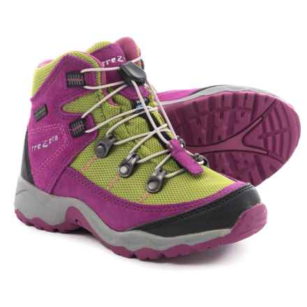 Trezeta Twister Hiking Boots - Waterproof (For Little Girls) in Pink/Green - Closeouts