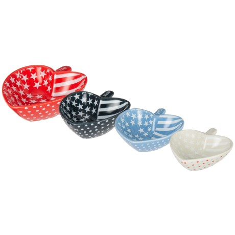 Tri Coastal Oh My Stars and Stripes Ceramic Measuring Cup Set - 4-Piece in Multi