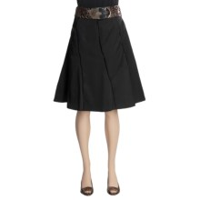 Tribal Sportswear Cotton Sateen Skirt - Belted, Side Zip (For Women) in Black