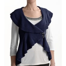 Tribal Sportswear Cotton Wrap Vest (For Women) in Ink Blue