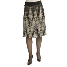 Tribal Sportswear Crepe Print Skirt (For Women) in Twine