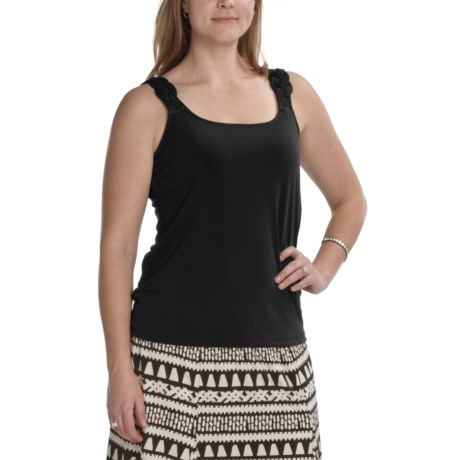 Tribal Sportswear Fancy Strap Camisole (For Women) in Black