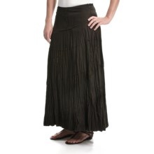 Tribal Sportswear Multi-Panel Crinkle Skirt (For Women) in Espresso