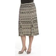 Tribal Sportswear Panel Flared Printed Skirt (Women) in Fudge