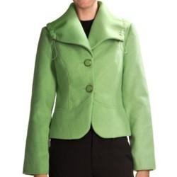 Tribal Sportswear Portrait Collar Jacket (For Women) in Orchid