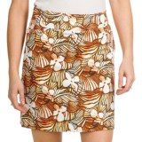 Tribal Sportswear Printed Sateen Skort - Stretch Cotton (For Women)