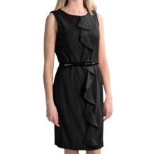 Tribal Sportswear Ruffle Sheath Dress - Sleeveless (For Women) in Black