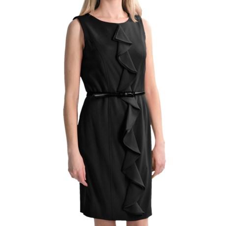 Tribal Sportswear Ruffle Sheath Dress - Sleeveless (For Women) in Black