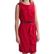 Tribal Sportswear Ruffle Sheath Dress - Sleeveless (For Women) in Poppy Red