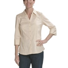Tribal Sportswear Shaped Shirt - 3/4 Sleeve (For Women) in Cream