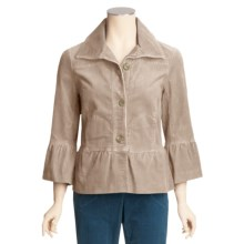 Tribal Sportswear Stretch Corduroy Jacket - Ruffle Detail (For Women) in Birch