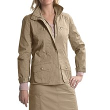 Tribal Sportswear Stretch Cotton Jacket (For Women) in Twine