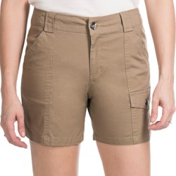 Tribal Sportswear Stretch Cotton Shorts (For Women) in Antelope