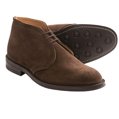 Tricker's Aldo-Style Chukka Boots (For Men) in Dark Brown Suede