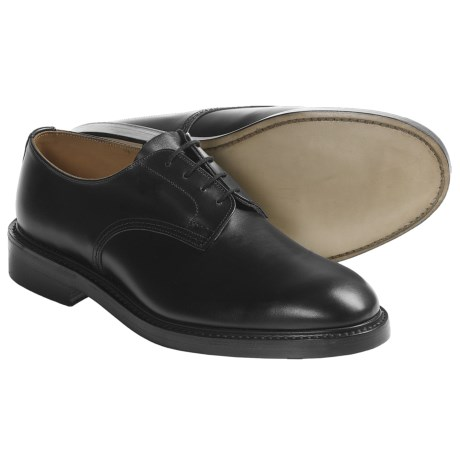 Tricker's Daniel Plain Derby Shoes - Leather (For Men) in Black Calf