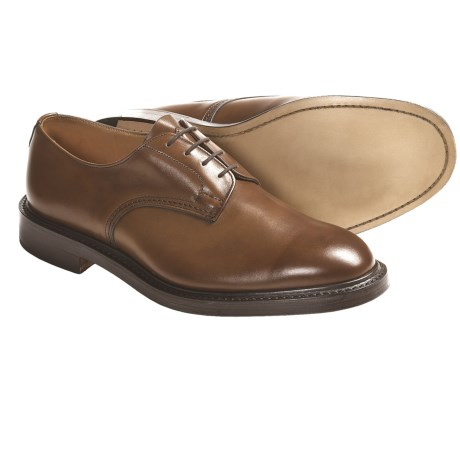 Tricker's Daniel Plain Derby Shoes - Leather (For Men) in Espresso Burnished Calf