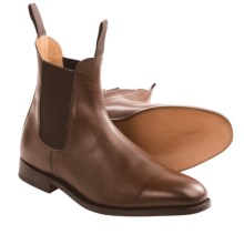 Tricker's Lambourn Boots - Single Leather Sole (For Men) in Coffee Burnished - Closeouts