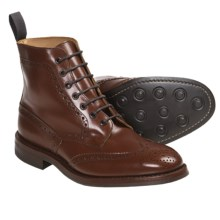 Tricker's Langston Wingtip Boots - Leather (For Men) in Marron Antique - Closeouts