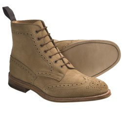 Tricker's Langston Wingtip Boots - Suede (For Men) in Gaucho Repellow Suede