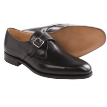 Tricker's Mayfair Monk Strap Shoes (For Men) in Black Calf - Closeouts