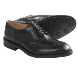 Tricker's Newbury Wingtip Shoes - Oxfords (For Men) in Black Calf