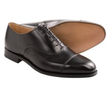 Tricker's Regent Dress Shoes- Leather (For Men) in Black Calf - Closeouts