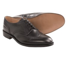 Tricker's Whitman Wingtip Shoes - Oxfords, Leather (For Men) in Black Box Calf - Closeouts