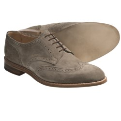 Tricker's Whitman Wingtip Shoes - Oxfords, Suede (For Men) in Visone Repellow Suede