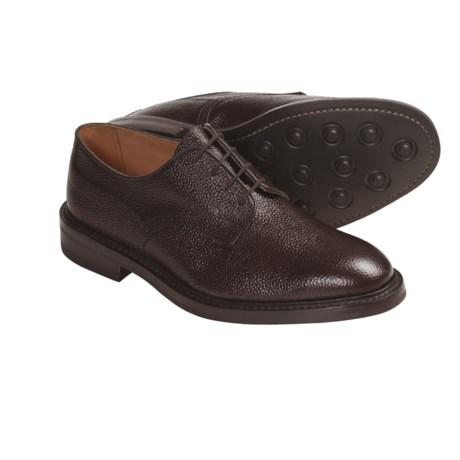 Tricker's Woodstock Shoes - Pebbled Leather (For Men) in Espresso Scotch Grain