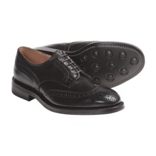 Tricker's Handmade Wingtip Derby Shoes - Brogue Welted  (For Men) in Espresso Burnished - Closeouts