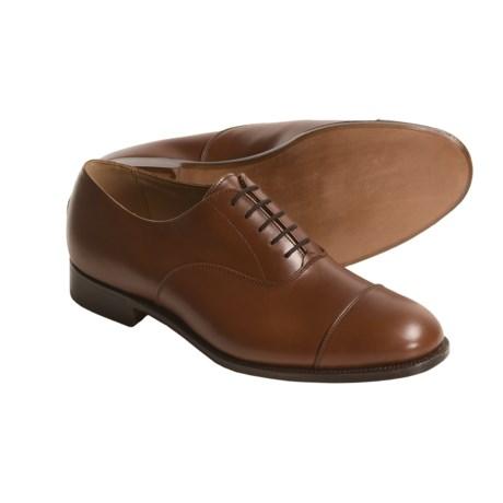 Tricker's Henley Plain Dress Shoes - Leather, Cap Toe (For Men) in Beechnut Antique Calf