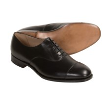 Tricker's Henley Plain Dress Shoes - Leather, Cap Toe (For Men) in Black Calf - Closeouts