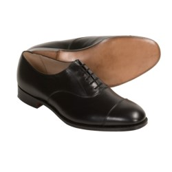 Tricker's Henley Plain Dress Shoes - Leather, Cap Toe (For Men) in Black Calf