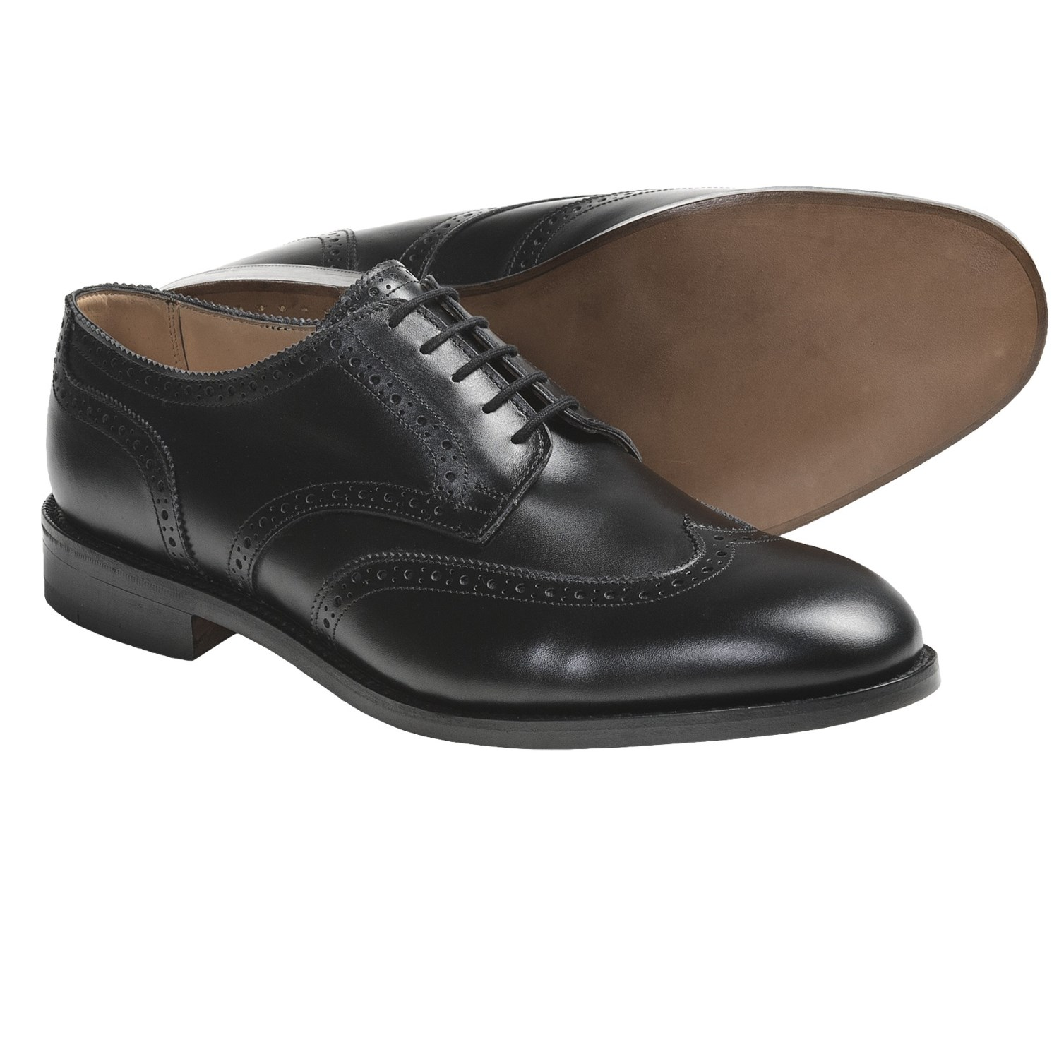 ... Whitman Wingtip Shoes - Oxfords, Calf Leather (For Men) in Black Calf