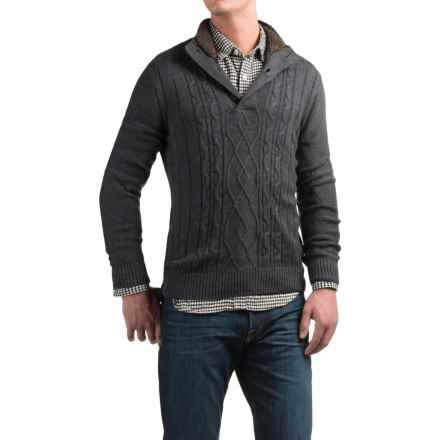 Tricots St. Raphael Aran Sweater (For Men) in Charcoal Heather - Closeouts