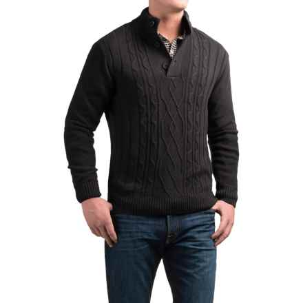 Tricots St. Raphael Aran Sweater (For Men) in Mahogany Heather - Closeouts