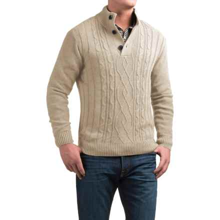 Tricots St. Raphael Aran Sweater (For Men) in Oatmeal Heather - Closeouts