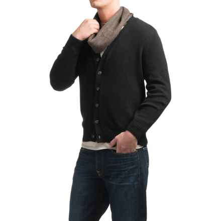 Tricots St. Raphael Cotton Cardigan Sweater (For Men) in Black - Closeouts