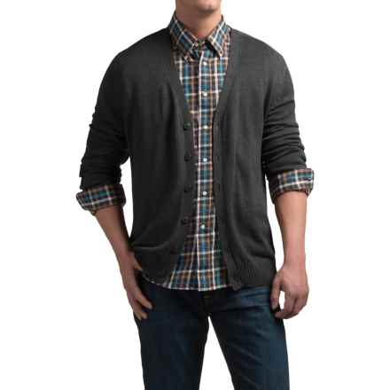 Tricots St. Raphael Cotton Cardigan Sweater (For Men) in Charcoal Heather - Closeouts