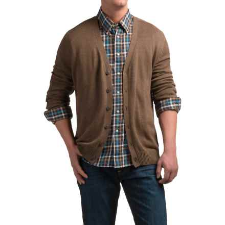 Tricots St. Raphael Cotton Cardigan Sweater (For Men) in Expresso Heather - Closeouts