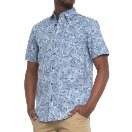 Tricots St. Raphael Printed Shirt - Short Sleeve (For Men) in Cadet Blue