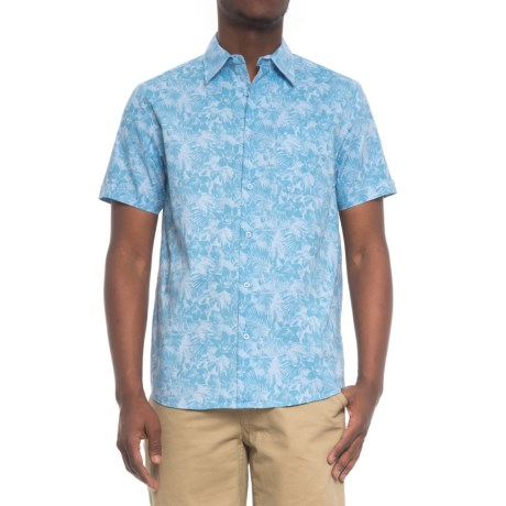 Tricots St. Raphael Printed Shirt - Short Sleeve (For Men) in Light Blue